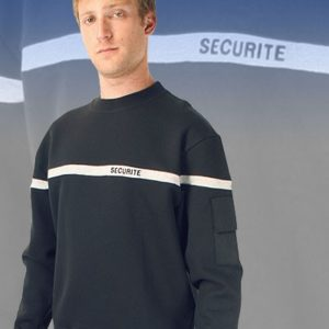 SWEAT SHIRT SECURITE BANDE GRISE