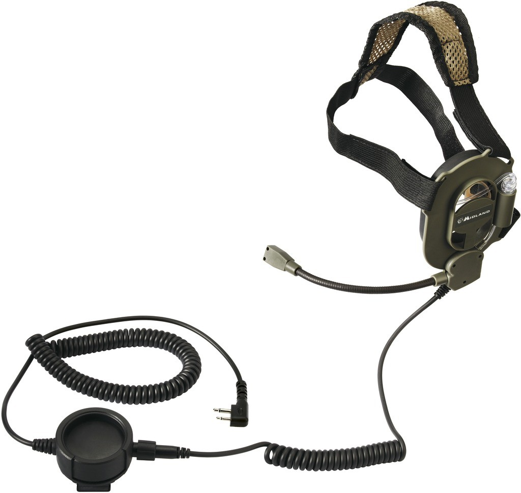Casque-micro mono-oreille type NAVY SEALS KENWOOD