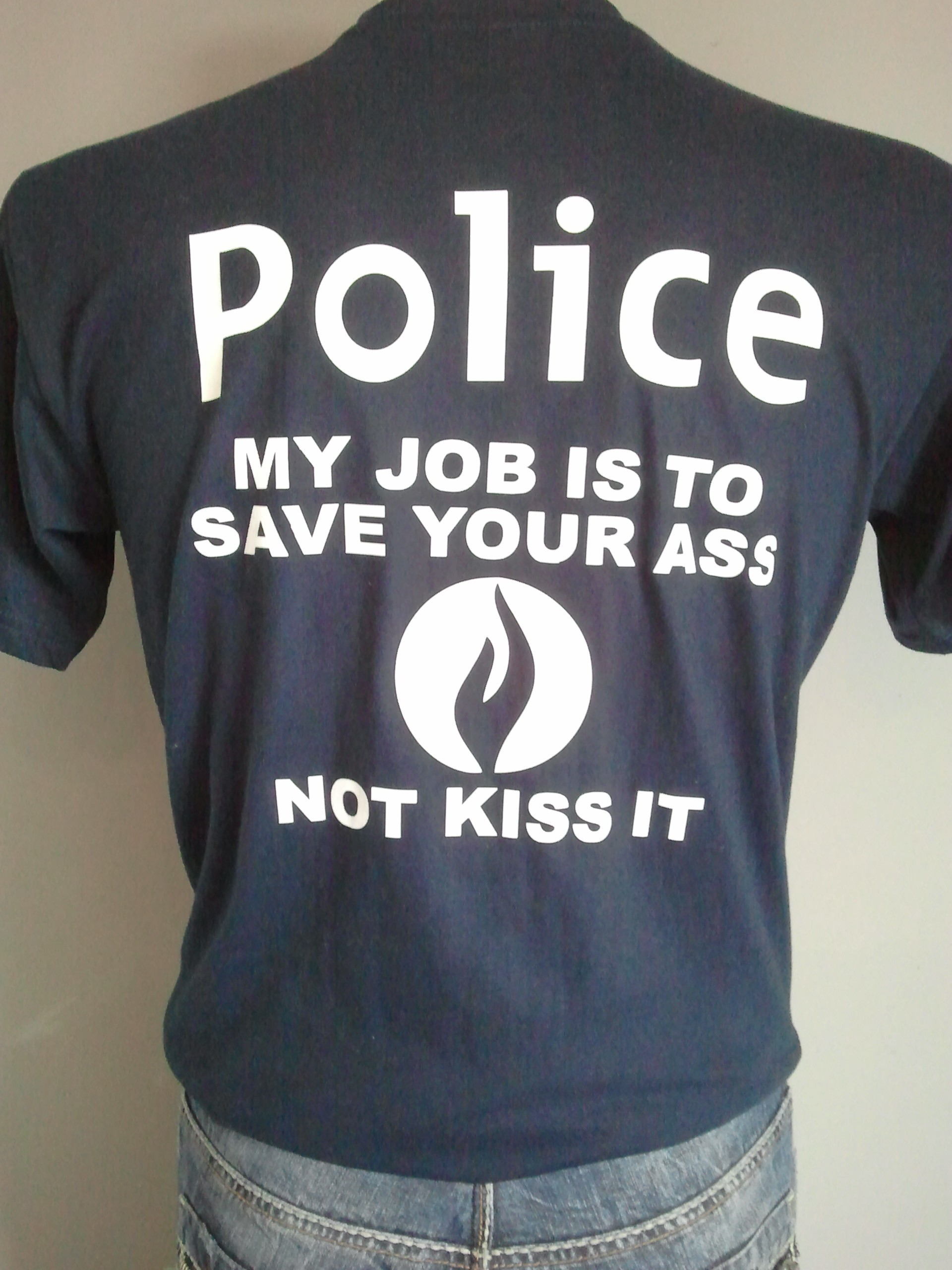 T-SHIRT POLICE SAVE ASS